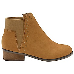 Dolcis - Tan 'Wendy' ladies block heeled ankle boots