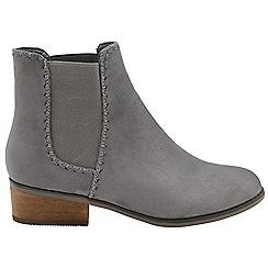 Dolcis - Grey 'Pasha' ladies block heel slip on ankle boots