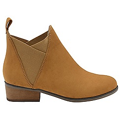 Dolcis - Tan 'Ronni' ladies slip on gusset ankle boots