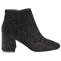 Dolcis - Black 'Bridget' ladies block heeled ankle boots