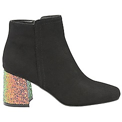 Dolcis - Black 'Celina' block heeled ladies ankle boots