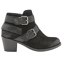 Dolcis - Black 'Quincy' ladies slip on ankle boots