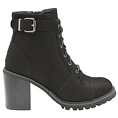 Dolcis - Black 'Maude' ladies lace up high heel ankle boots