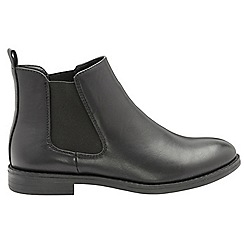 Dolcis - Black 'Ranger' ladies slip on gusset ankle boots