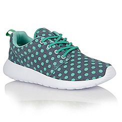 Dolcis - Blue/green 'Trieste' ladies lace-up trainers