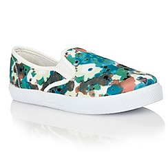 Dolcis - Blue/green 'Rimini' ladies plimsolls