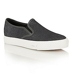 Dolcis - Pewter 'Electra' slip-on plimsolls