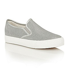 Dolcis - Silver 'Electra' slip-on plimsolls