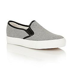 Dolcis - Grey 'Etta' slip-on plimsolls