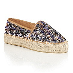 Dolcis - Brown 'Banessa' flatform slip-on espadrilles