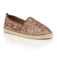Dolcis - Bronze 'Batice' slip-on sequined espadrilles