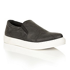 Dolcis - Black 'Addison' slip-on flat plimsolls