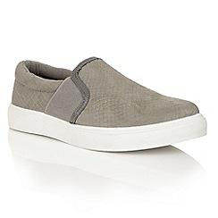 Dolcis - Grey 'Abby' slip-on elasticated plimsolls