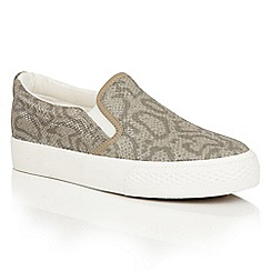 Dolcis - Grey 'Riva' slip-on elasticated plimsolls