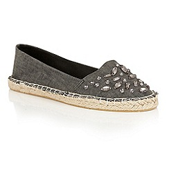 Dolcis - Black 'Berry' slip-on flat espadrilles