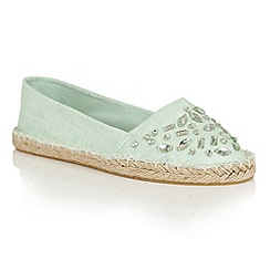 Dolcis - Green 'Berry' slip-on flat espadrilles