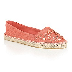 Dolcis - Red 'Berry' slip-on flat espadrilles