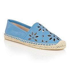 Dolcis - Blue 'Bianca' slip-on floral espadrilles