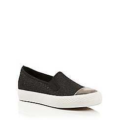 Dolcis - Black 'Hailey' slip-on plimsolls pumps