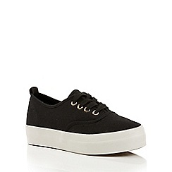 Dolcis - Black 'Esta' lace-up plimsolls