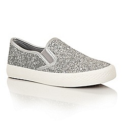 Dolcis - Silver 'Millie' plimsolls