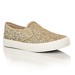 Dolcis - Gold 'Millie' plimsolls
