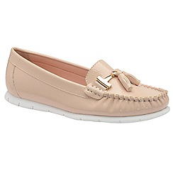 Dolcis - Nude 'Kirsten' ladies tassel detailed loafers