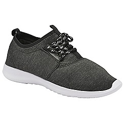 Dolcis - Black 'Amara' ladies lace up casual sports shoes