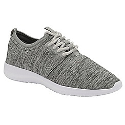 Dolcis - Grey 'Amara' ladies lace up casual sports shoes
