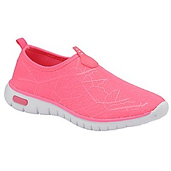Dolcis - Fuchsia 'Hollis' ladies slip on casual sport shoes