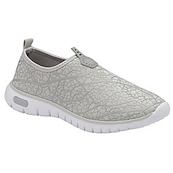 Dolcis - Grey 'Hollis' ladies slip on casual sports shoes