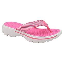 Dolcis - Fuchsia 'Riane' ladies comfort slip on flip flops