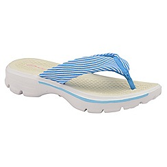 Dolcis - Blue 'Riane' ladies comfort slip on flip flops