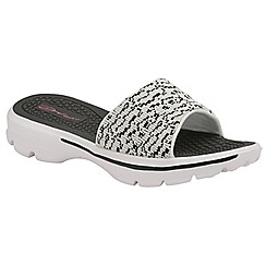 Dolcis - Black/White 'Ruth' ladies casual comfort sandals