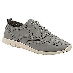 Dolcis - Grey 'Edan' ladies faux suede shoes