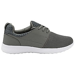 Dolcis - Grey 'Rene' ladies lace up casual trainers