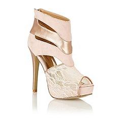 Dolcis - Nude lace 'Bonn' platform sandals