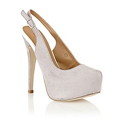 Dolcis - Grey 'Madrid' sling back court shoes