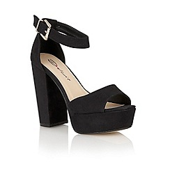 Dolcis - Black 'Cardiff' ladies heeled sandals
