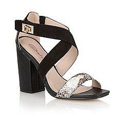 Dolcis - Black 'Breslau' ladies heeled sandals