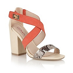 Dolcis - Nude/coral 'Breslau' ladies heeled sandals