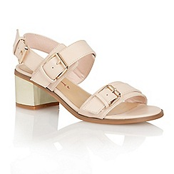 Dolcis - Nude 'Coventry' ladies heeled sandals