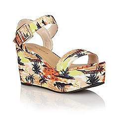 Dolcis - Peach 'Tenerife' ladies wedge sandals
