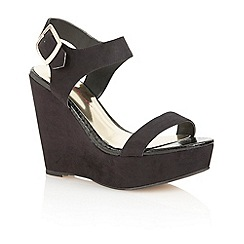 Dolcis - Black 'Nice' ladies wedge sandals