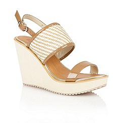 Dolcis - Tan 'Lvov' ladies wedge sandals