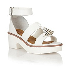 Dolcis - White 'Dusseldorf' ladies sandals