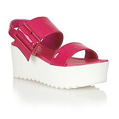 Dolcis - Pink 'Bratislava' ladies flatform sandals