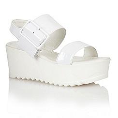 Dolcis - White 'Bratislava' ladies flatform sandals