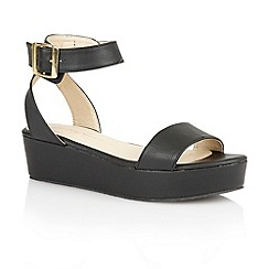 Dolcis - Black 'Tallin' ladies flatform sandals