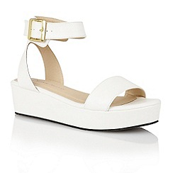 Dolcis - White 'Tallin' ladies flatform sandals